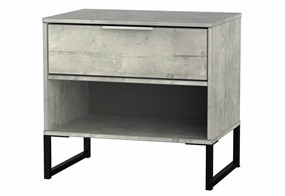 Diego Concrete Double 1 Drawer Locker