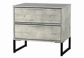 Diego Concrete Double 2 Drawer Locker