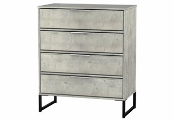 Diego Concrete 4 Drawer Chest