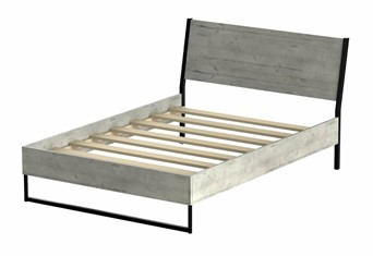 Diego Concrete Wooden Bedframe - 4'6'' Double