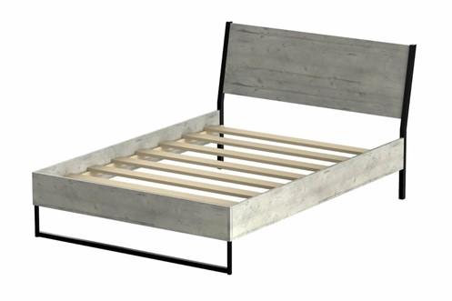 Diego Concrete Wooden Bedframe