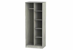 Diego Concrete Open Shelf Wardrobe