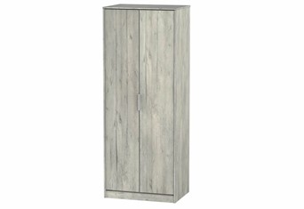 Diego Concrete 2 Door Wardrobe