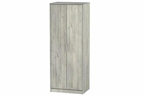 Diego Concrete 2 Door Wardrobe