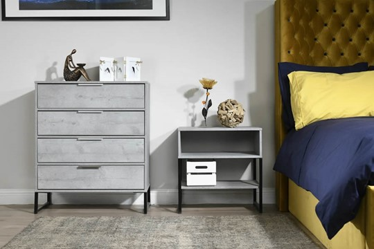 Diego Concrete 3 Drawer Chest