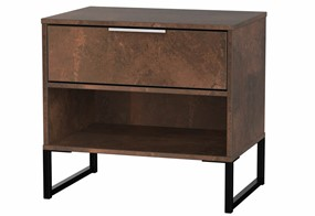 Diego Copper Double 1 Drawer Locker