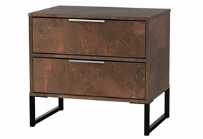 Diego Copper Double 2 Drawer Locker