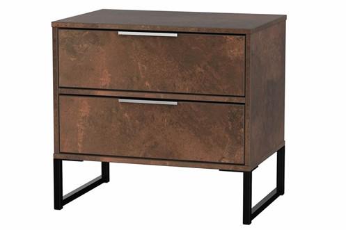 Diego Copper Double 2 Drawer Locker