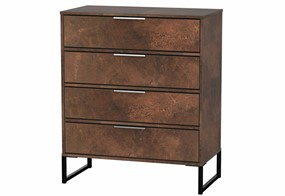 Diego Copper 4 Drawer Chest
