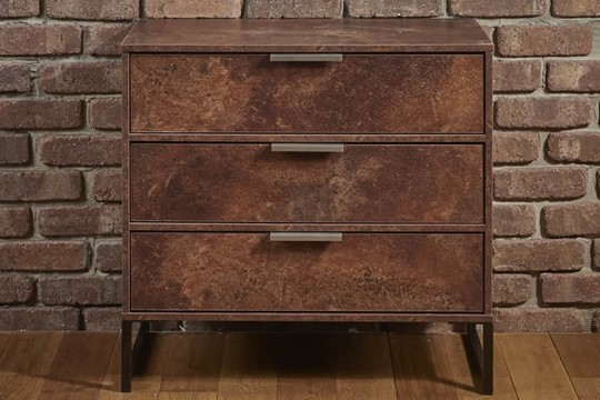 Diego Copper 3 Drawer Chest