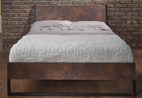 Diego Copper Wooden Bedframe - 4'6'' Double