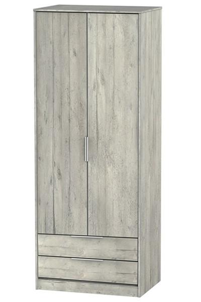 Diego Concrete 2 Drawer Wardrobe