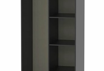 Hong Kong Open Shelf Wardrobe - Matt Black