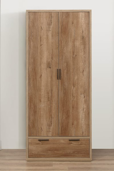 Stockwell 2 Door 1 Drawer Wardrobe