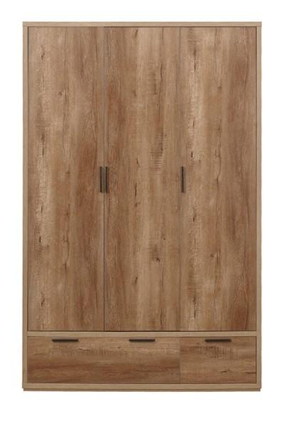 Stockwell 3 Door 2 Drawer Wardrobe