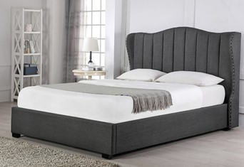 Sherwood Ottoman Fabric Bedframe - Grey 6'0'' Superking