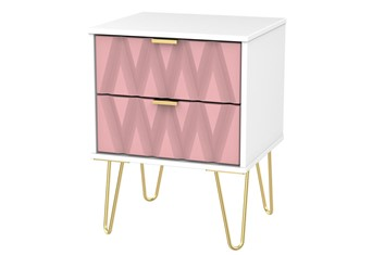 Diamond 2 Drawer Locker - Pink