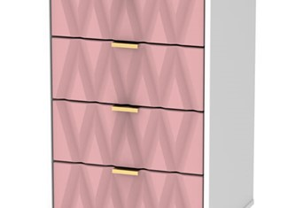 Diamond 5 Drawer Locker - Pink