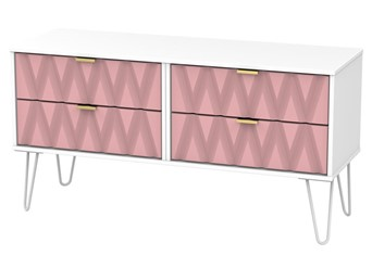 Diamond 4 Drawer Bed Box - Pink