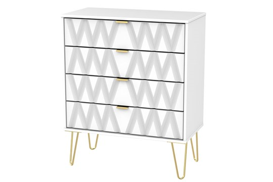 Diamond 4 Drawer Chest