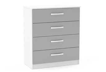 Lynx 4 Drawer Chest - White & Grey