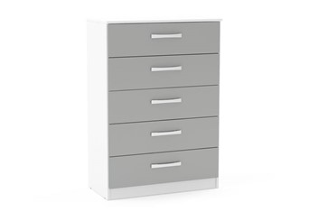 Lynx 5 Drawer Chest - White & Grey