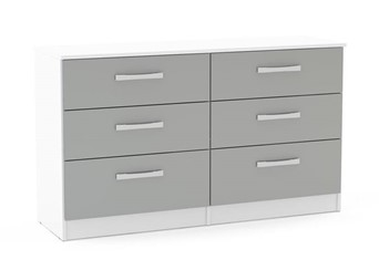 Lynx 6 Drawer Chest - White & Grey