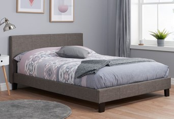 Berlin Fabric Bed - 4'6'' Double Grey