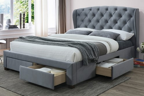 Hope Fabric Storage Bed