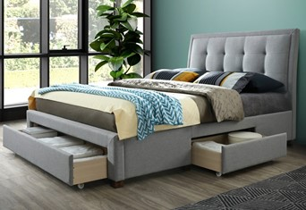 "Shelby Fabric Storage Bed - Double 4'6"" (135cm)"