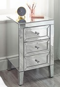 Zoe 3 Drawer Bedside