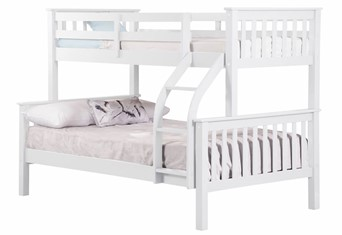 Connor Wooden Triple Bunk Bed - White