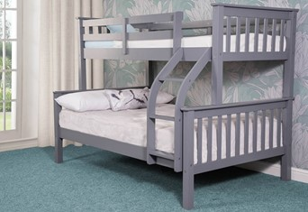 Connor Wooden Triple Bunk Bed - Grey