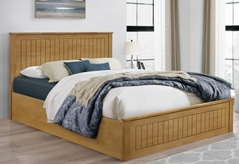 Fairmont Ottoman Bed - 4'6'' Double Oak