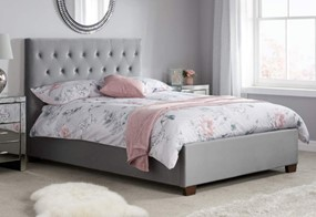 Cologne Fabric Bed - 4'6'' Double Grey