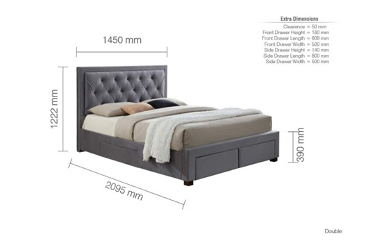 Woodbury Fabric Bedframe