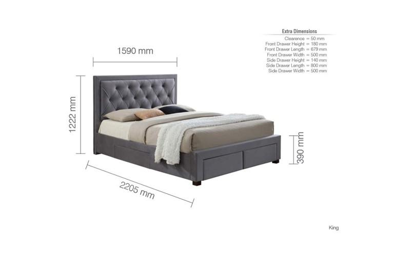 Woodbury Fabric Bedframe