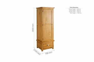 Woburn 1 Door 1 Drawer Robe