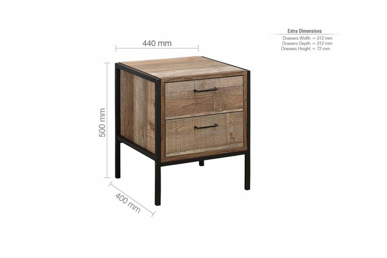 Urban Two Drawer Bedside