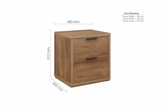 Stockwell 2 Drawer Bedside