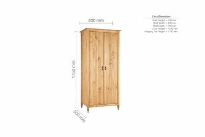 Pembroke 2 Door Wardrobe