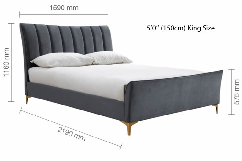 Clover Fabric Bed