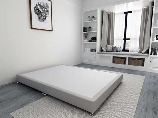 Low Divan Bed Base on Chrome Glides