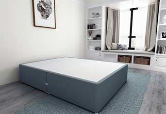 Platform Top Divan Bed Base - 5'0'' King Size Duckegg