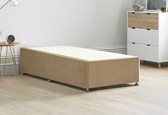 Platform Top Divan Bed Base - 3'0'' Standard Single Latte