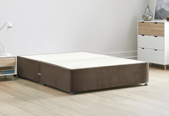 Platform Top Divan Bed Base - 6'0'' Super King Mocha