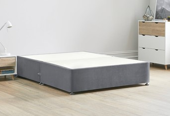 Platform Top Divan Bed Base - 4'6'' Standard Double Titanium