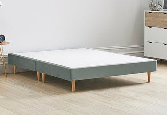 Divan Bed Base On Wooden Legs - 6'0'' Super King Clay
