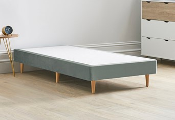 Divan Bed Base On Wooden Legs - 2'6'' Small Single Clay