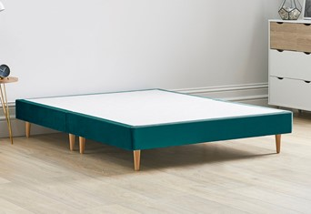 Divan Bed Base On Wooden Legs - 4'6'' Standard Double Mallard